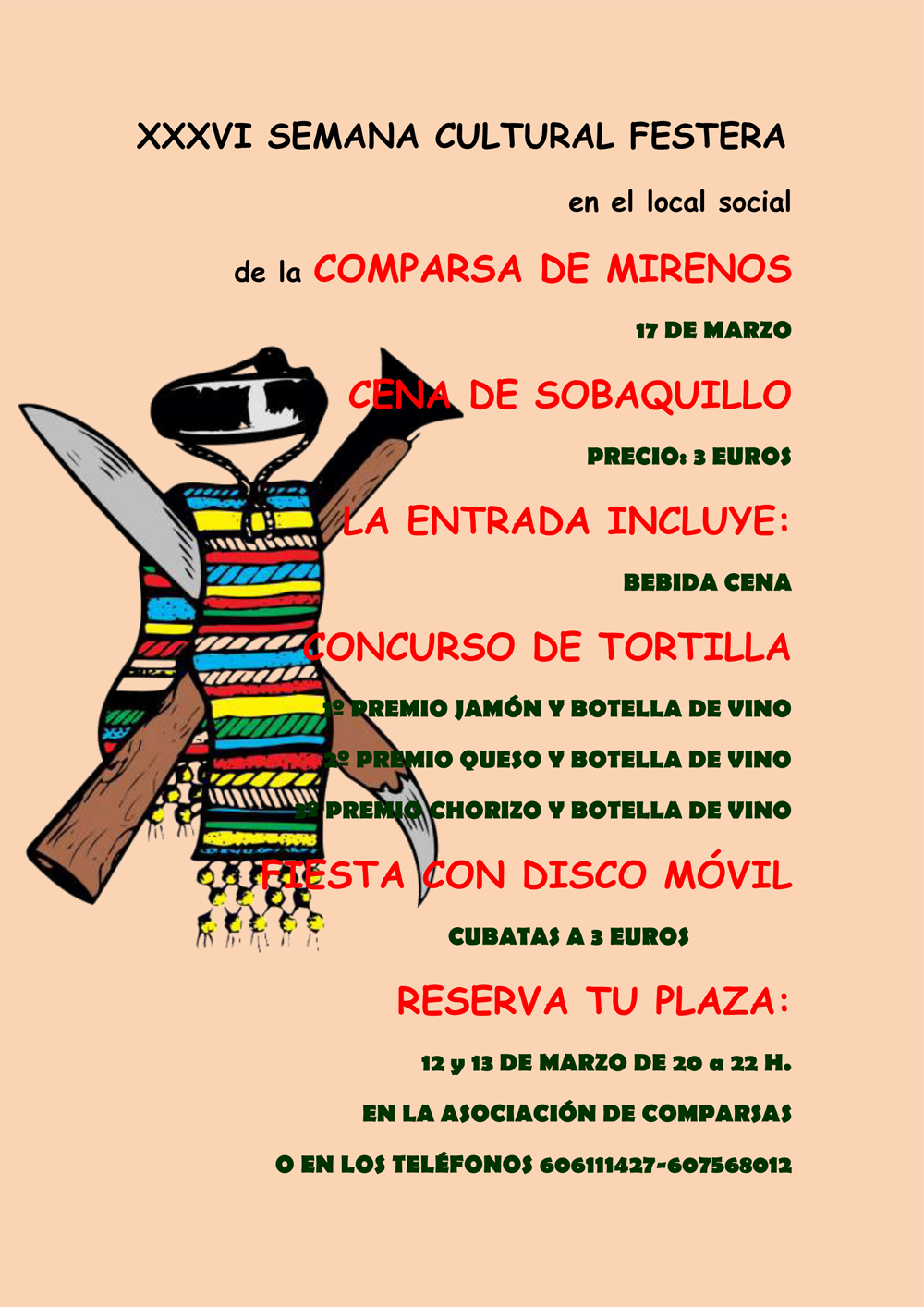 Cena sobaquillo 17 marzo 2012