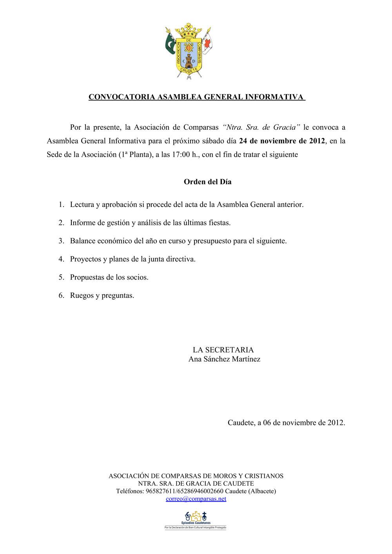 Asamblea Asociacion Comparsas 24-11-2012